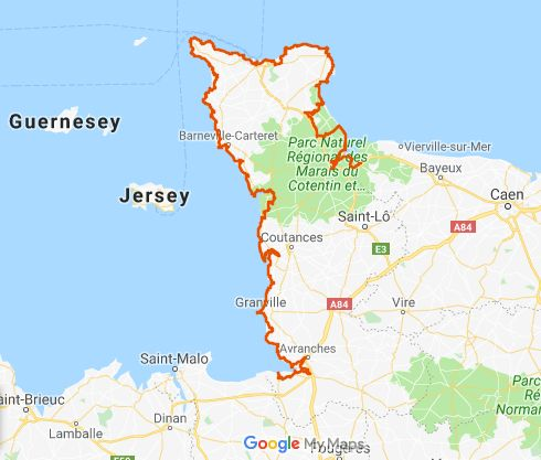 Carte tour du Cotentin